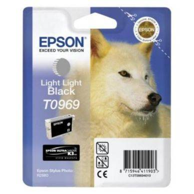 Epson Vaalean mustan (harmaan) musteen patruuna T0969 Replace: N/A