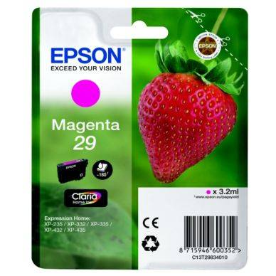 Epson Mustepatruuna magenta (Epson 29) 180 sivua T2983 Replace: N/A