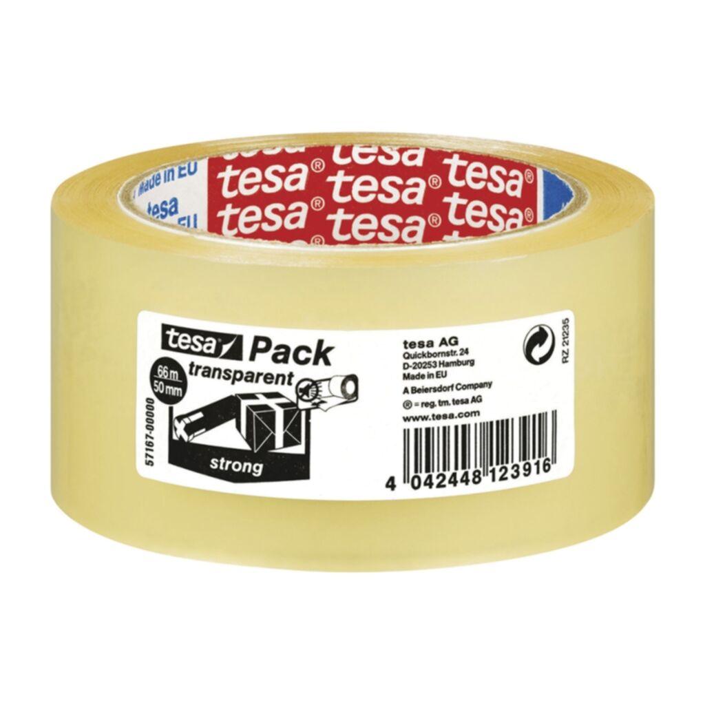 Pakkausteippi Tesa Strong 66m x 50mm kirkas, 6 rll 4042448123916 Replace: N/A