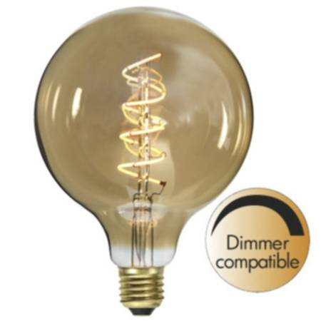 Star Trading Sisustus LED filamentti E27 G125 2000K 160lm himmennin 354-42 Replace: N/A
