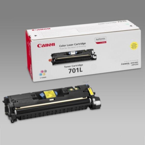 Canon 701 LY Värikasetti keltainen, 2.000 sivua 9288A003 Replace: N/A
