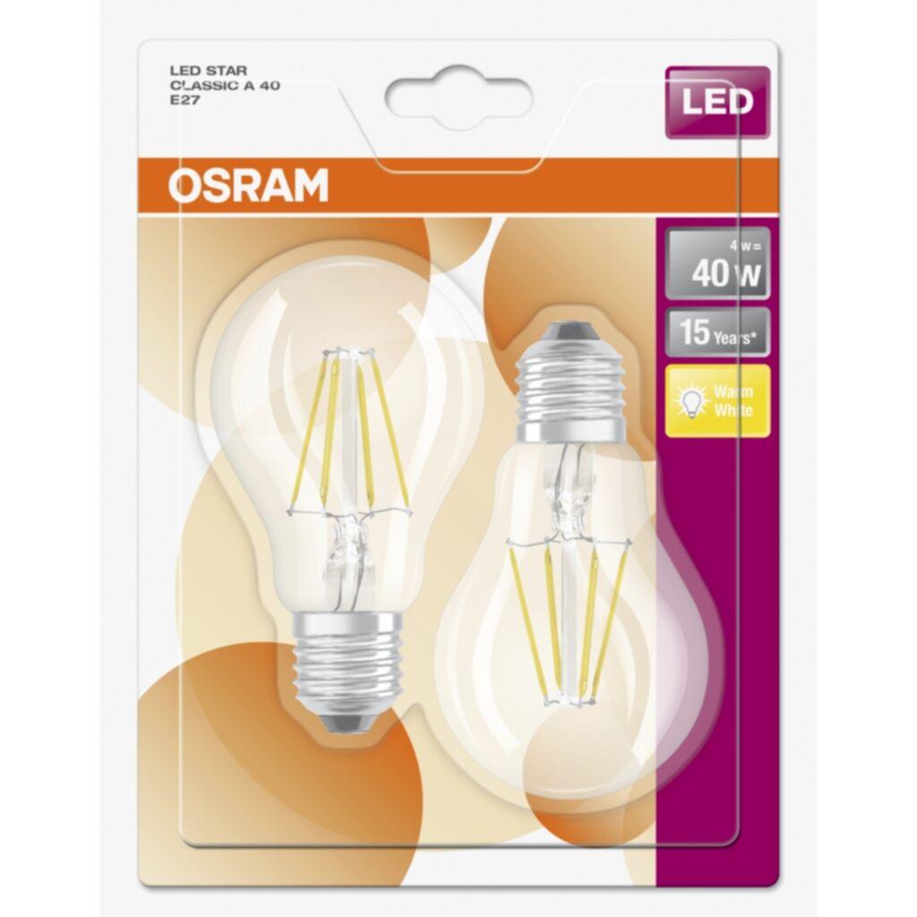 OSRAM sram Base Classic 40 4W/827 FILE276X2 4052899415294 Replace: N/A