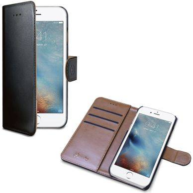 Apple Celly Wally Wallet Case, iPhone 7 Plus, musta/ruskea WALLY801 Replace: N/A