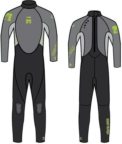 Body Glove M�rk�p. bodyglove stmr 3/2 jnr grey 14
