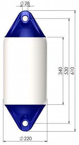 Polyform Lepuuttaja f2 valkoinen 220x610 mm