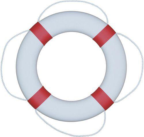 Fristad Plast Pelastusrengas 380 Valkoinen/punainen, lahjapakkauksessa