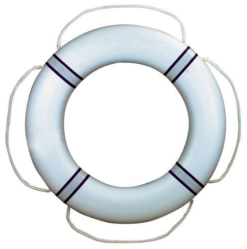 Fristad Plast Pelastusrengas 380 Valkoinen/sininen, lahjapakkauksessa