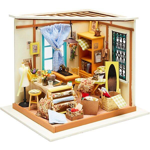 Image of DIY minihuone ompelimo, kork. 19 cm, lev. 22,5 cm, 1 kpl