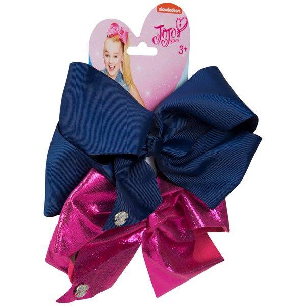Jojo Siwa Bow Set - Navy/Hot Pink