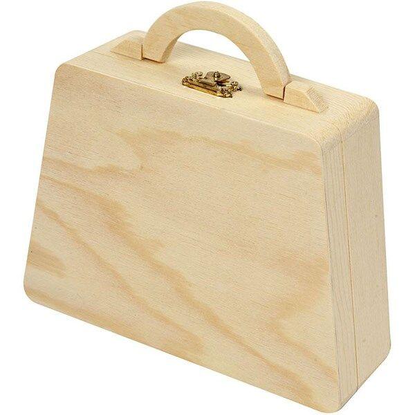 Image of Puulaukku, koko 17,5(12,5)x13,5 cm, paksuus 5,5 cm, mänty, 1kpl, sisämitta 11,8x12-16,5 cm