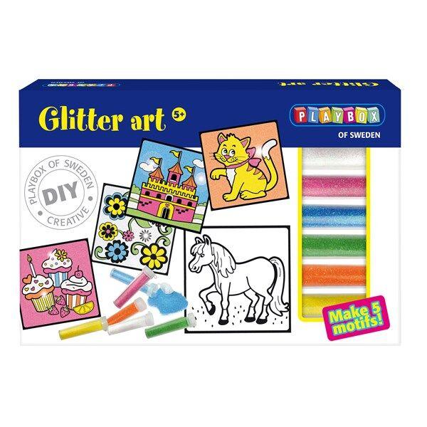 Pysselset, Glitter Konst, Playbox