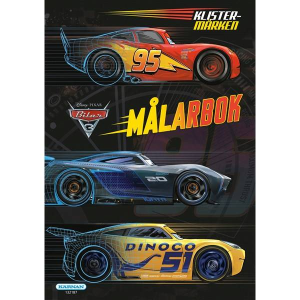 Målarbok Cars 3, Egmont Kärnan