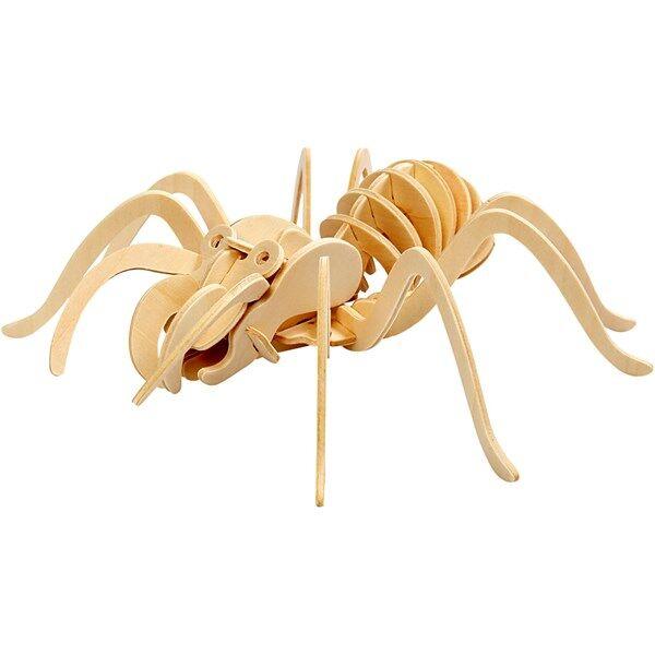 Image of 3D-palapeli, hämähäkki, koko 19x22x6,5 cm, vaneri, 1kpl