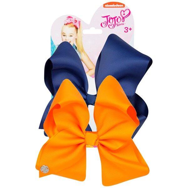 JoJo Siwa Bow Set Navy/Tangerine