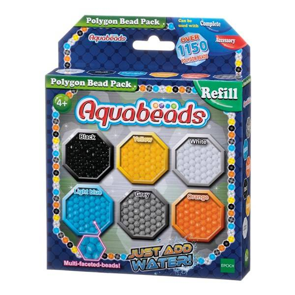 Förpackning med polygonpärlor, Aquabeads