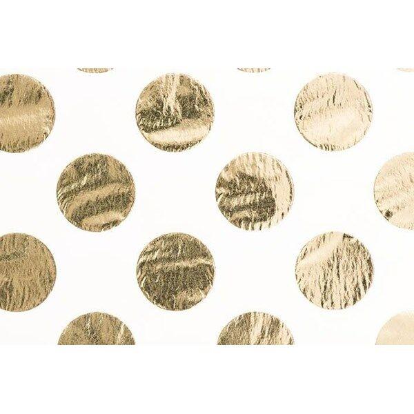 Image of Kräppapper, Rosa prickar och Guld 4-pack, 70 x 50cm