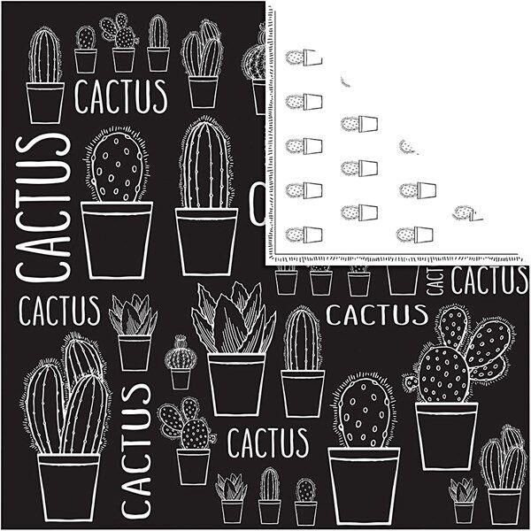 Kuviopaperi, arkki 30,5x30,5 cm,  180 g, , kaktus, 5ark