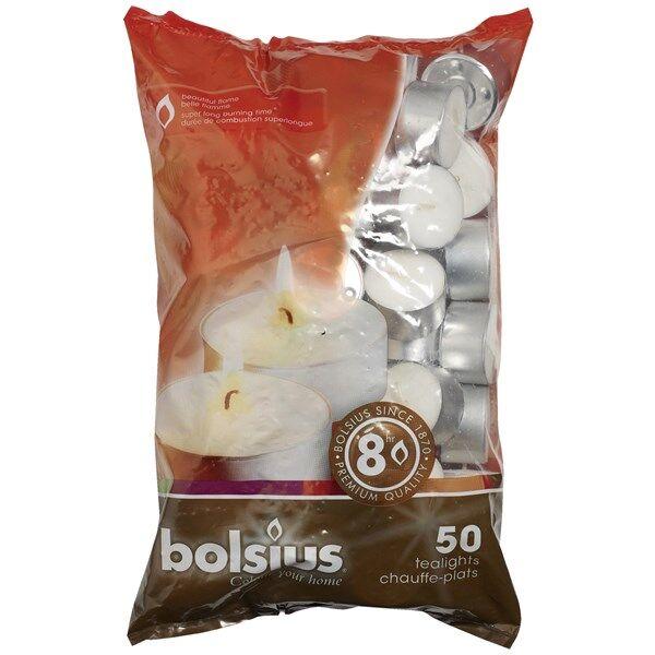 Bolsius Värmeljus 50-pack Vit