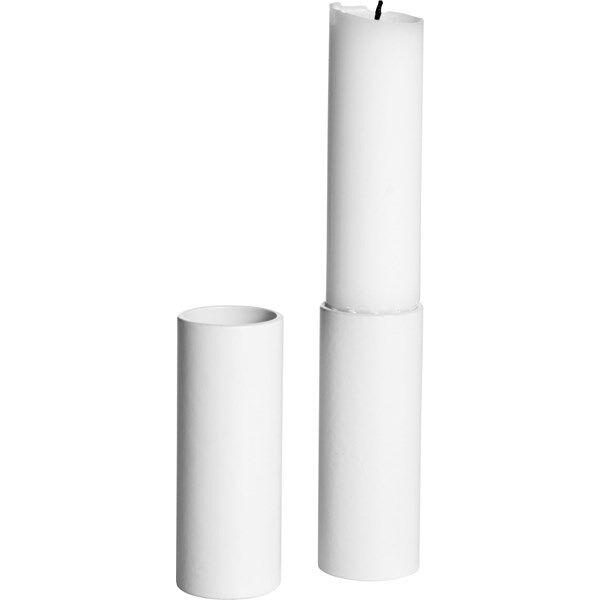 ERNST Kynttilänjalka Korkea 2 kpl Valkoinen
