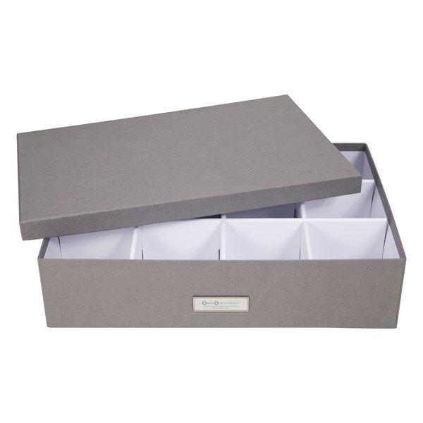Säilytyslaatikko, 12 lokeroa Jakob 31x43x10,5cm Harmaa