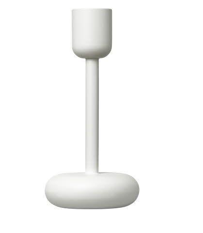 iittala Nappula Kynttilänjalka 18 cm Valkoinen