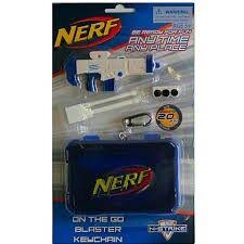 On the go blaster keychain, white, NERF