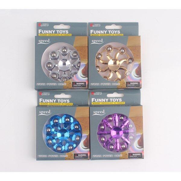 Fidget Spinner, Rund Metallic, Rosa