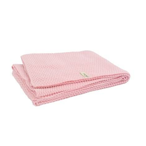 Image of Filt uni 75x100 cm drops rosa, Jollein