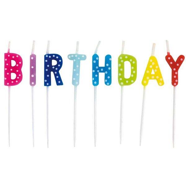 Jabadabado Kakkukynttilä Happy Birthday