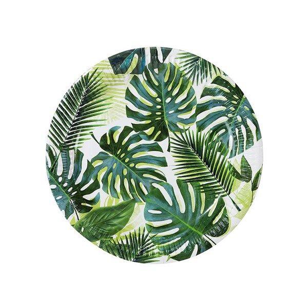 Lautaset Palmunlehti 8-pakkaus