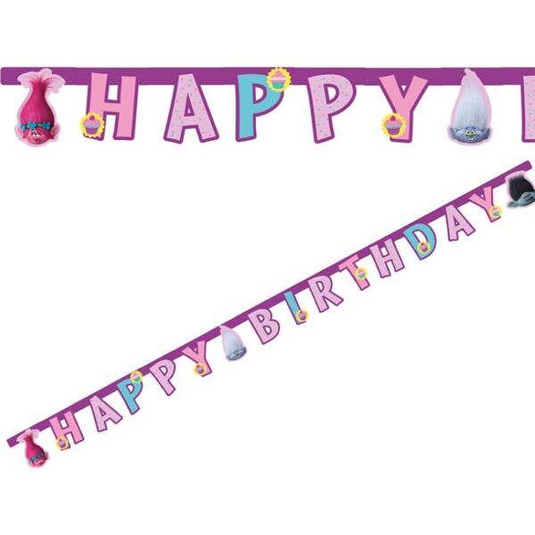 Trolls Kyltti/Banneri Happy Birthday