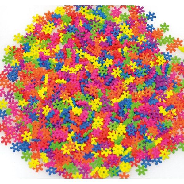Plastpärlor, Blommor, Neon, 2000 St., Playbox