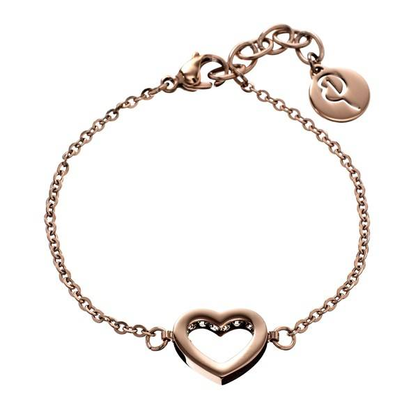 Edblad Monaco Heart Armband Thin Rose Gold