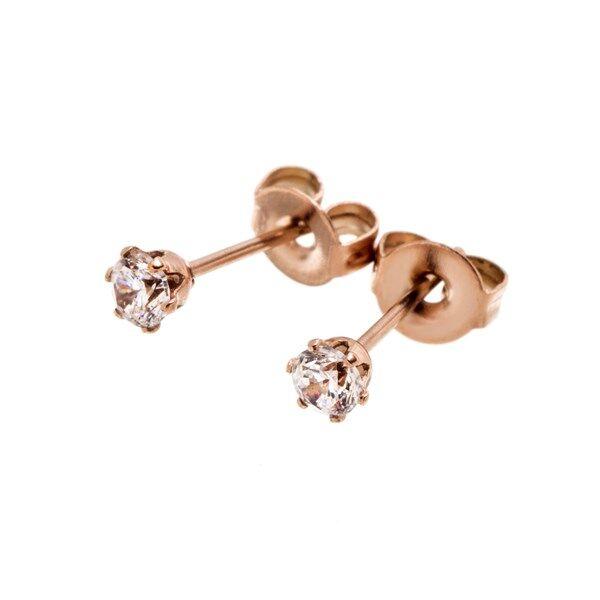 Crown Edblad Crown Örhängen Mini Rose Gold