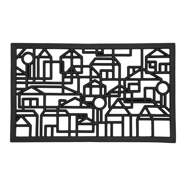 Dixie Villastad Ovimatto Kumi 75x45 cm Musta