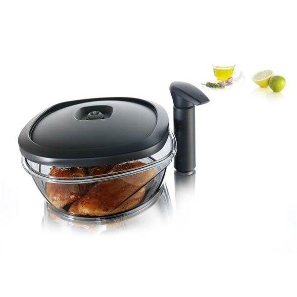 Tomorrow´s Kitchen/Vacuvin Pikamarinoija Pumpulla 2.5 L Läpinäkyvä