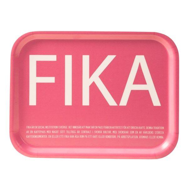 I Love Design FIKA Tarjotin Vaaleanpunainen