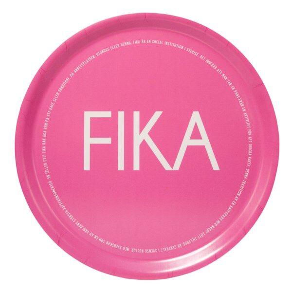 I Love Design FIKA Tarjotin Pyöreä 38 cm Vaaleanpunainen