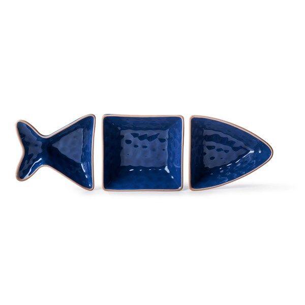 Sagaform Outdoor Eating Fish Skål 3 Delar Blå