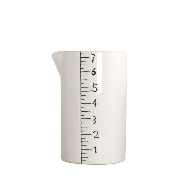 House Doctor Measure Kannu 13.5 cm Keraaminen Valkoinen