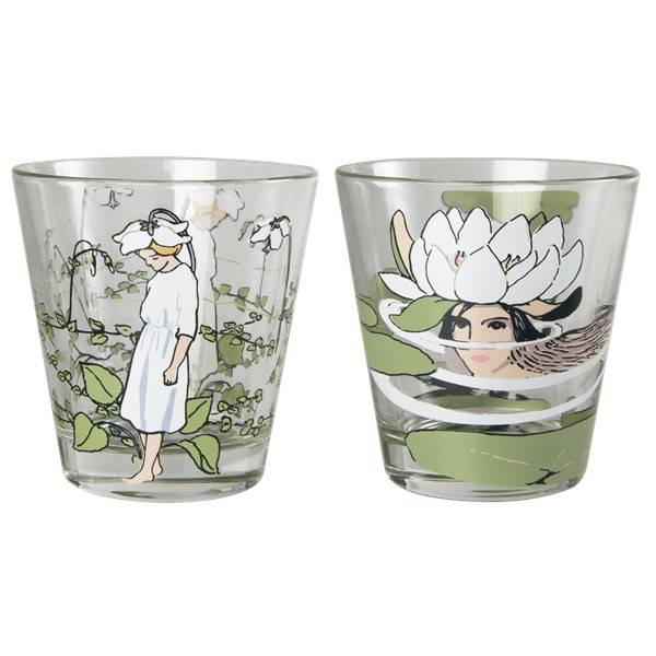 Elsa Muurla Elsa Beskow Näckros & Pyrola Drickglas 2-pack 27 cl Klar