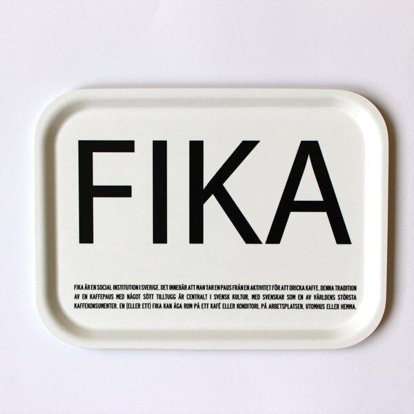 I Love Design FIKA Tarjotin Valkoinen