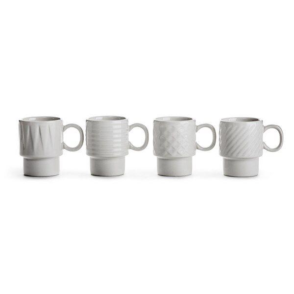 Sagaform Coffee & More Glögg/Espressomugg 4-pack 10 cl Vit