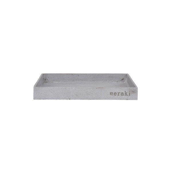 Meraki Bricka 30x30 cm Grå