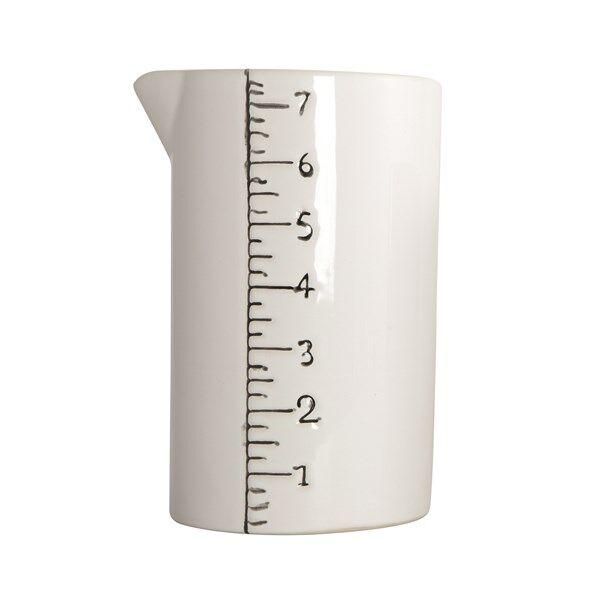 House Doctor Measure Kannu Keraaminen 16 cm Valkoinen