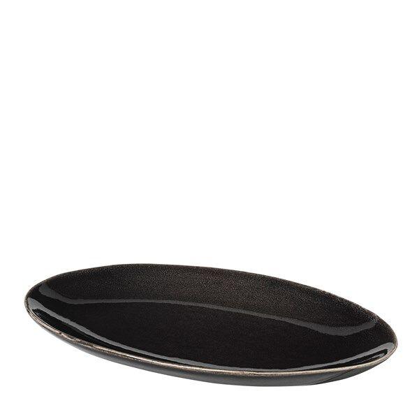 Broste Nordic Coal Tarjoiluvati Ovaali 13.6 x 22 cm Tummanharmaa