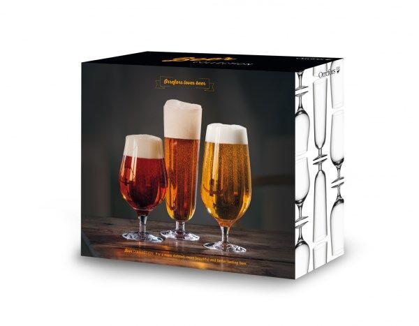 Orrefors Beer Collection Olutlasi 3 kpl Kirkas