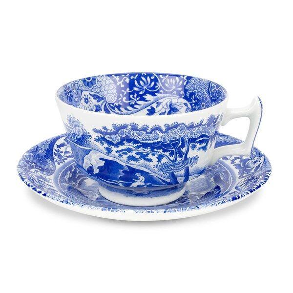 Spode Blue Italian Teekuppi Asetilla 20 cl