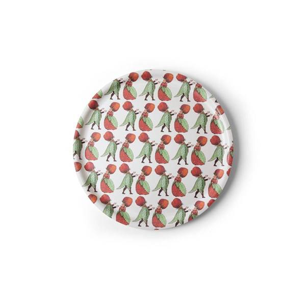 Design House Elsa Beskow Strawberry Family Tarjotin Pyöreä 35 cm