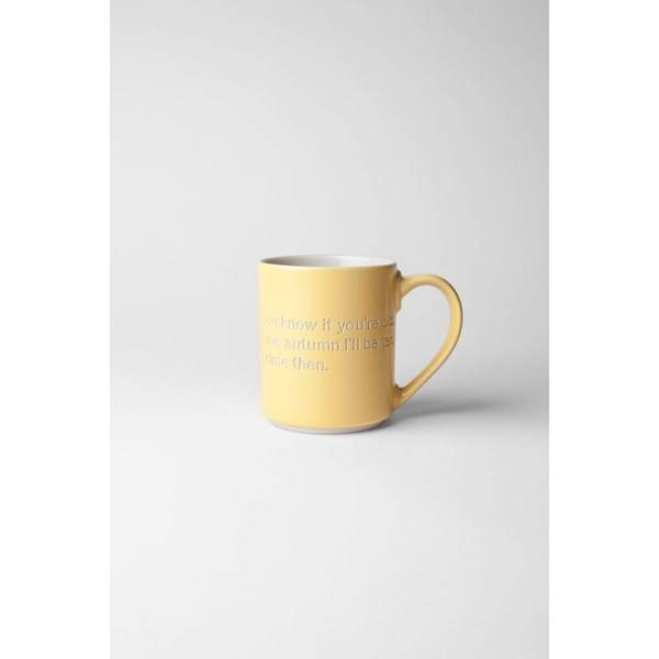 Design House Astrid Lindgren Mugg Oh Yes, Time Flies 36 cl Gul